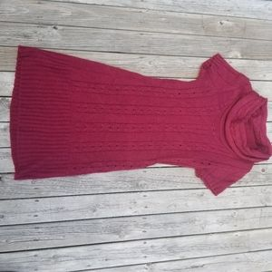 Reitman's cowlneck cableknit sweater dress